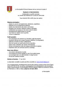 Annonce_secretaire_Ormont-Dessous