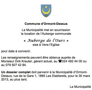 Mise soumission Auberge Ours 2013
